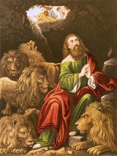 Daniel in the Den of Lions-English-Giclee Print