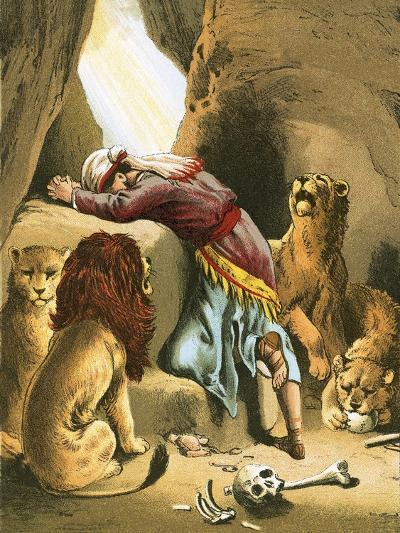 Daniel in the Lion's Den-English-Giclee Print