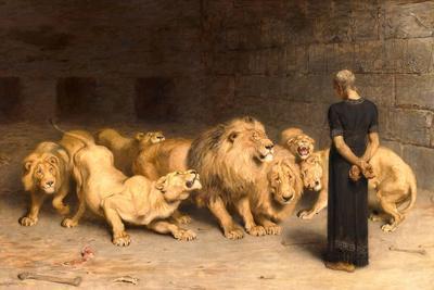 Daniel in the Lions' Den, 1872--Giclee Print