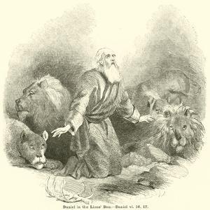 Daniel in the Lions' Den, Daniel, VI, 16, 17