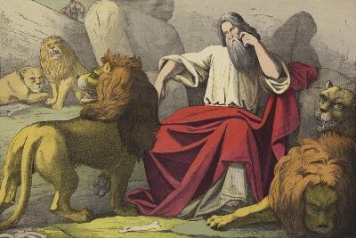 Daniel in the Lions Den--Giclee Print