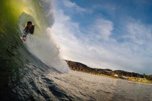 A Bodysurfer Throws Caution To The Wind On A Wave In Avila Beach, California by Daniel Kuras