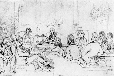 A Literary Gathering in 1844
