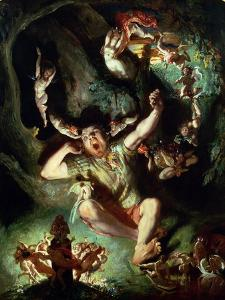 The Disenchantment of Bottom, from a Midsummer Night's Dream Act IV Scene I by William Shakespeare by Daniel Maclise