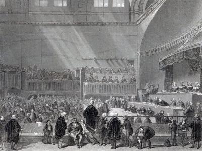 Daniel O'Connell Standing Trial in 1844-English School-Giclee Print