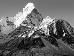 Black and White View of Ama Dablam - Way to Everest Base Camp - Nepal by Daniel Prudek