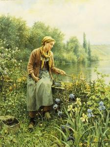 Fishing on a Spring Day by Daniel Ridgway		 Knight