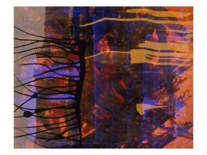 Abstract Image in Black, Blue, and Red by Daniel Root