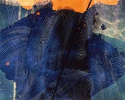 Abstract Image in Blue and Orange by Daniel Root