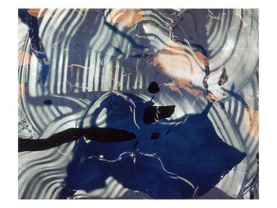 Abstract Image in Blue and White