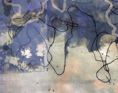 Abstract Image in Blue and White by Daniel Root