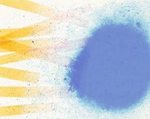 Abstract Image in Blue, White, and Yellow by Daniel Root