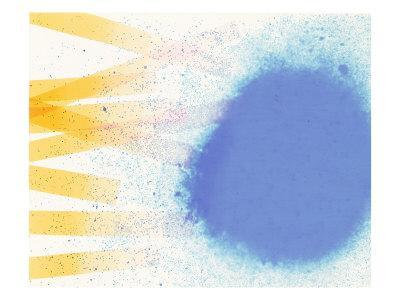 Abstract Image in Blue, White, and Yellow