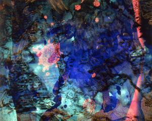 Abstract Image in Blue by Daniel Root