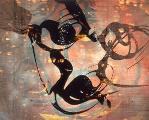 Abstract Image in Brown and Black by Daniel Root