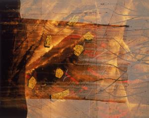 Abstract Image in Brown and Red by Daniel Root