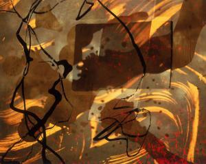 Abstract Image in Brown, Black, and Red by Daniel Root