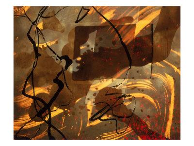 Abstract Image in Brown, Black, and Red