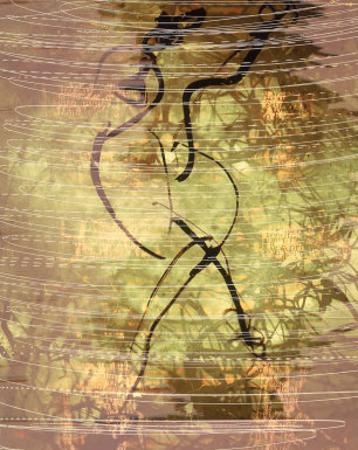 Abstract Image in Green, Yellow, and Black by Daniel Root
