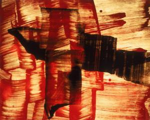 Abstract Image in Red, Yellow, and Black by Daniel Root