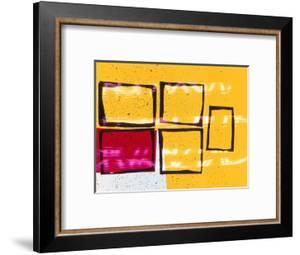 Abstract Image in Yellow and Magenta by Daniel Root