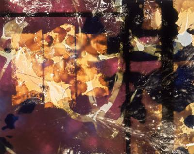 Abstract Image in Yellow, Black, and Magenta by Daniel Root