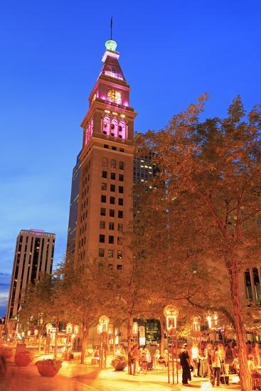 Daniel's and Fisher Tower, 16th Street Mall, Denver, Colorado, United States of America-Richard Cummins-Photographic Print