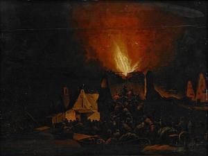 Nightfire, 1660 by Daniel Vosmaer