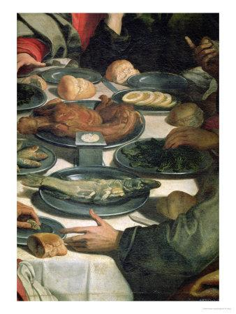 The Last Supper, Detail of the Food