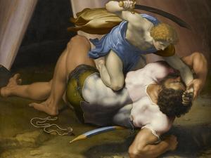 Combat de David et Goliath by Daniele Da Volterra