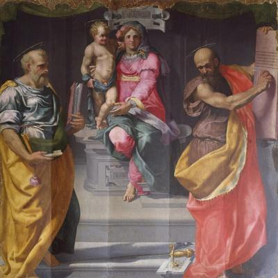 Madonna and Child Between Saints Peter and Paul