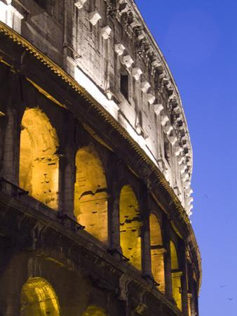 The Exterior of the Colosseum at Dusk by Daniella Nowitz