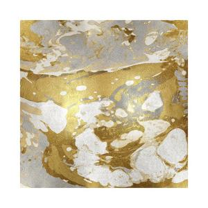Marbleized in Gold and Silver I by Danielle Carson