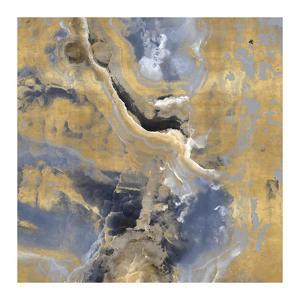 Stone with Gold and Gray I by Danielle Carson