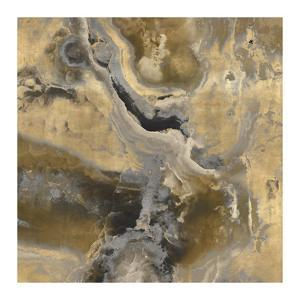 Stone With Gold and Gray II by Danielle Carson