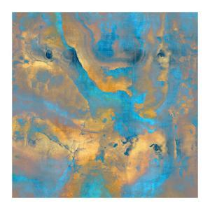Stone with Turquoise and Gold by Danielle Carson