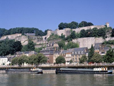River Meuse and Citadel, Namur, Belgium