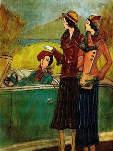 Girls & Cars I by Danielle Harrington