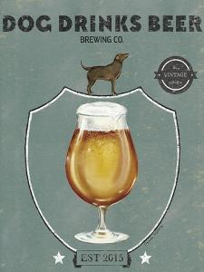 Dog Drinks Beer Tulip Glass by Danielle Murray