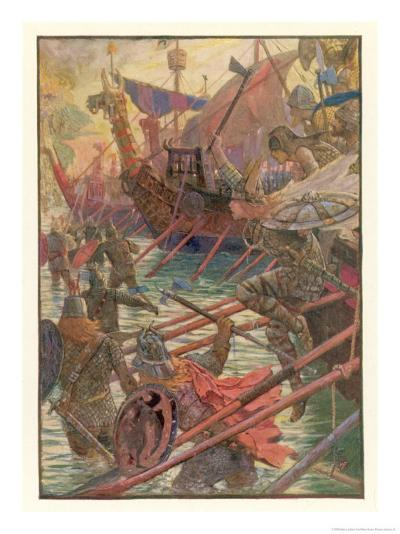 Danish Attacks on the English Coast-Henry Justice Ford-Giclee Print