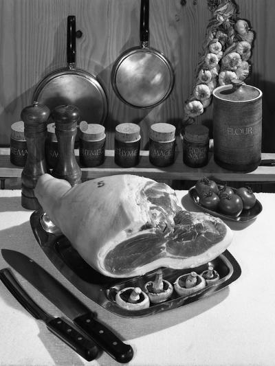 Danish Bacon Gammon Joint with Spice Jars, 1963-Michael Walters-Photographic Print