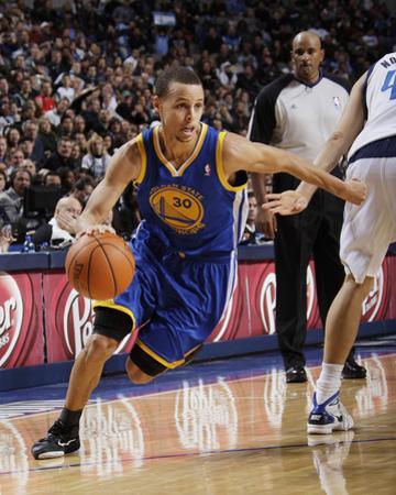 Golden State Warriors v Dallas Mavericks: Stephen Curry and Dirk Nowitzki