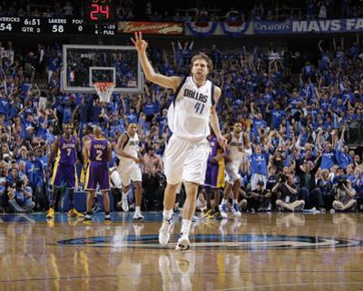 Los Angeles Lakers v Dallas Mavericks - Game Three, Dallas, TX - MAY 6: Dirk Nowitzki