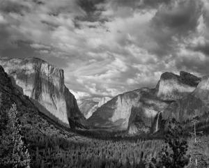 Yosemite Tunnel View Black and White I by Danny Burk
