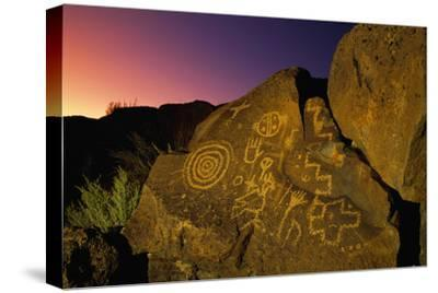 Detail of Petroglyphs at Petroglyph National Monument