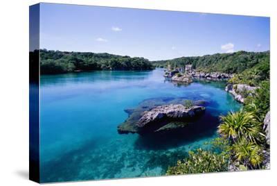 Lagoon at Xel Ha National Park in Mexico