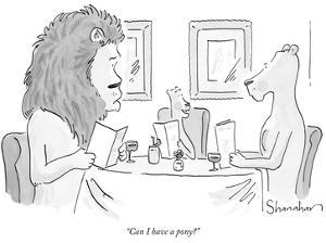 """""""Can I have a pony?"""" - New Yorker Cartoon by Danny Shanahan"""
