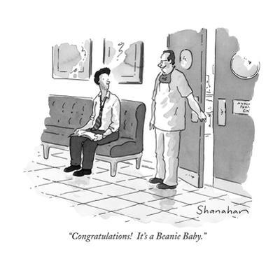 """""""Congratulations!  It's a Beanie Baby."""" - New Yorker Cartoon by Danny Shanahan"""