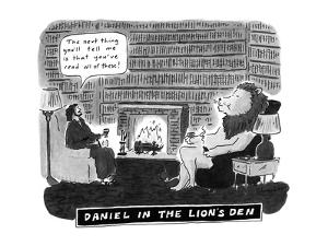 Daniel in the Lion's Den - New Yorker Cartoon by Danny Shanahan