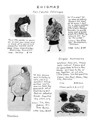 Enigmas, Fall/Winter Catalogue - New Yorker Cartoon by Danny Shanahan